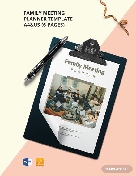Family meeting Planner Template