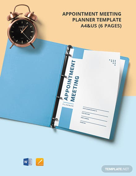 Appointment Meeting Planner Template
