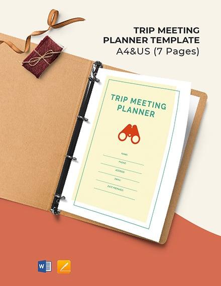 Trip Meeting Planner Template