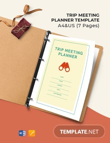 Trip Meeting Planner Template