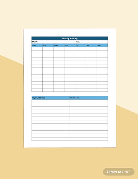 Business Meeting Planner Download