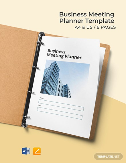 Business Meeting Planner Template