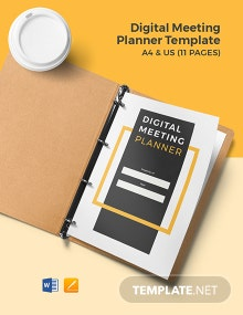 Digital Meeting Planner Template