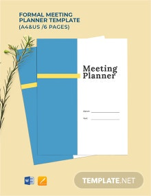 Free Formal Meeting Planner Template