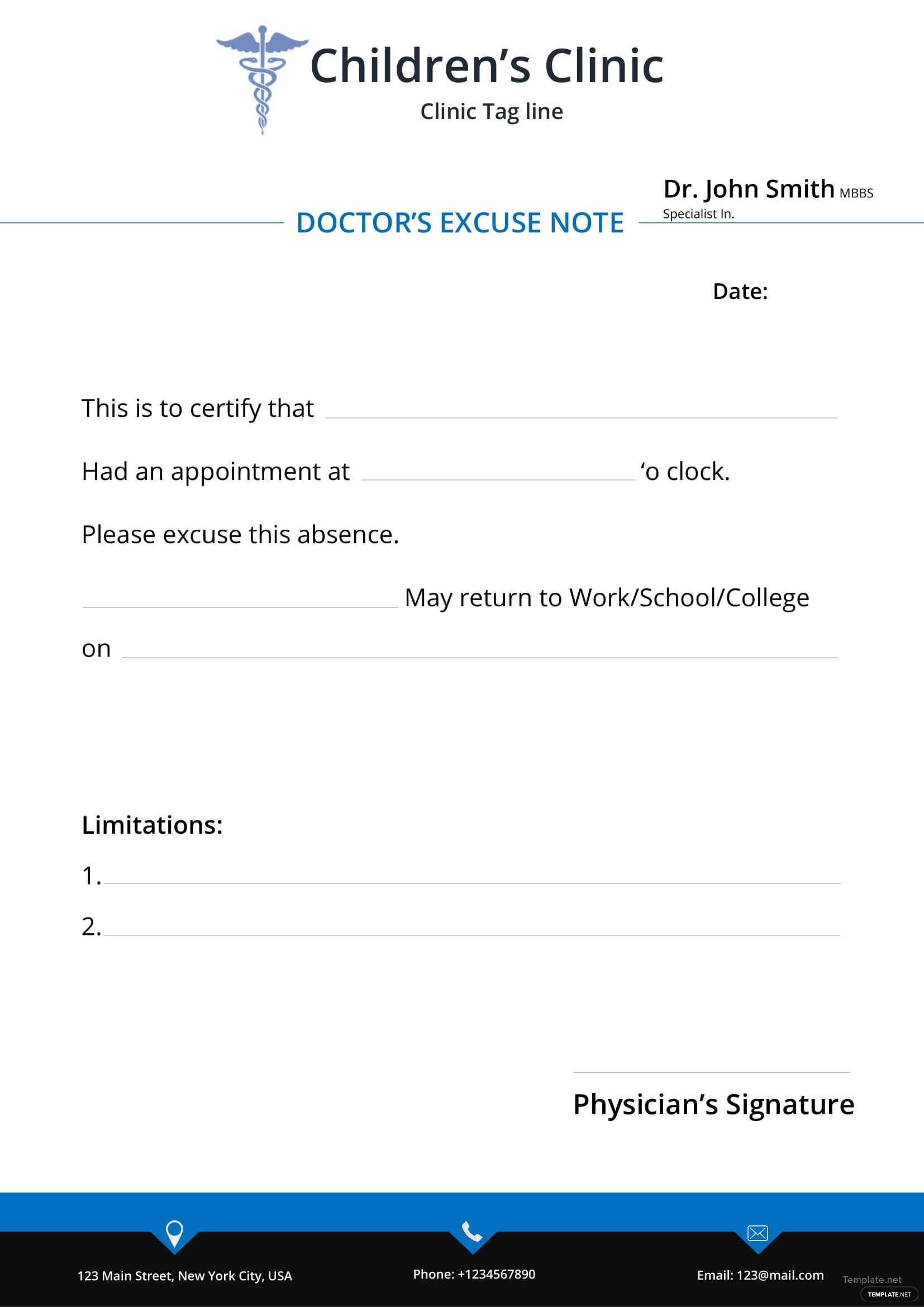 doctor u2019s excuse note template in microsoft word