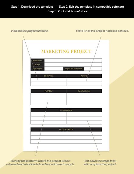 Hotel marketing Planner Format
