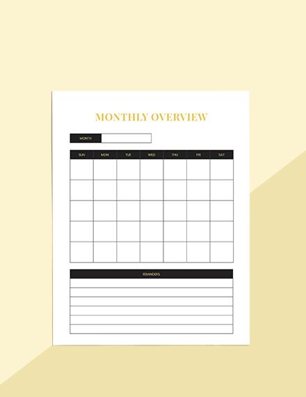 Hotel marketing Planner Sample