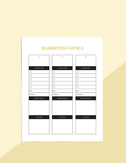 Hotel marketing Planner Schedule