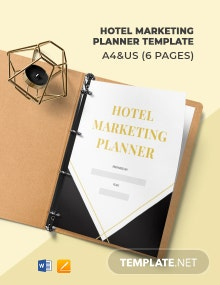Hotel Marketing Planner Template