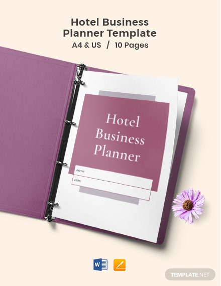 Hotel Business Planner Template