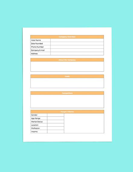 Hotel Budget Planner Editable