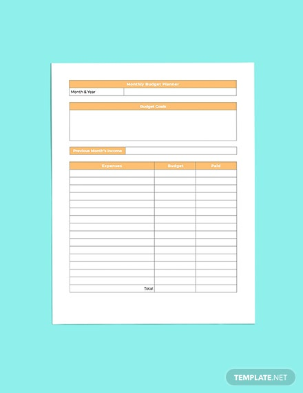 Hotel Budget Planner Printable