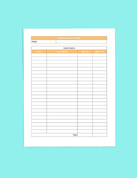 Hotel Budget Planner Sample