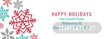 Holiday Address Label Template
