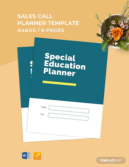 Special Education Planner Template