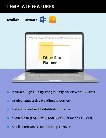 Homework Education Planner Instruction