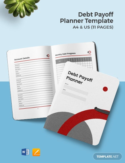 Debt payoff Planner template