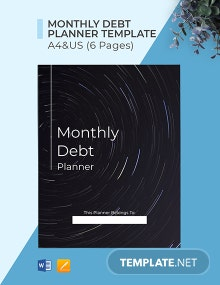 Monthly Debt Planner Template