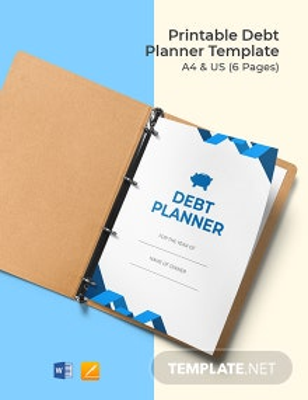 Free Printable Debt Planner Template