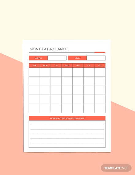 Home Education Planner Example