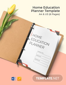 Home Education Planner Template