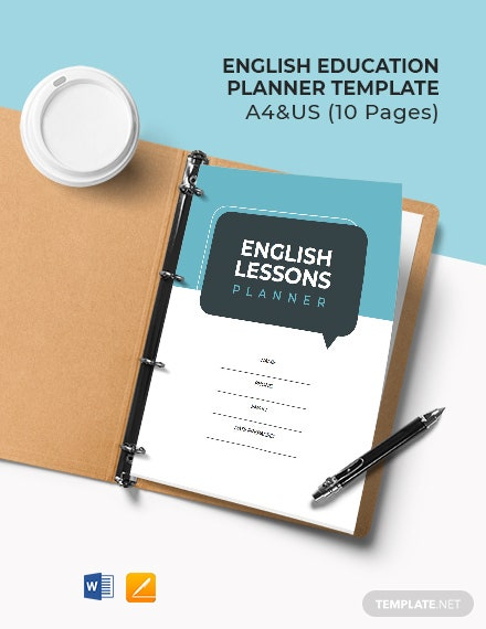English Education Planner Template