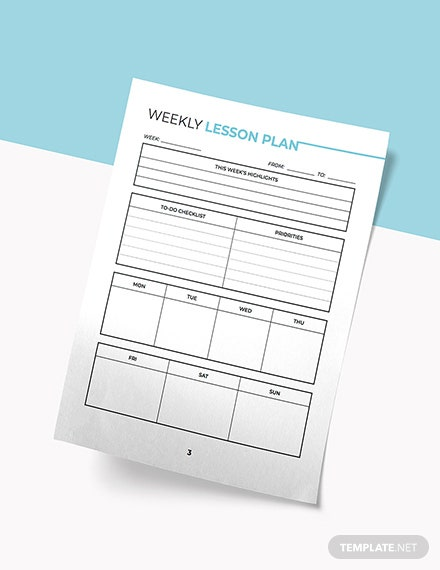 English Education Planner Example