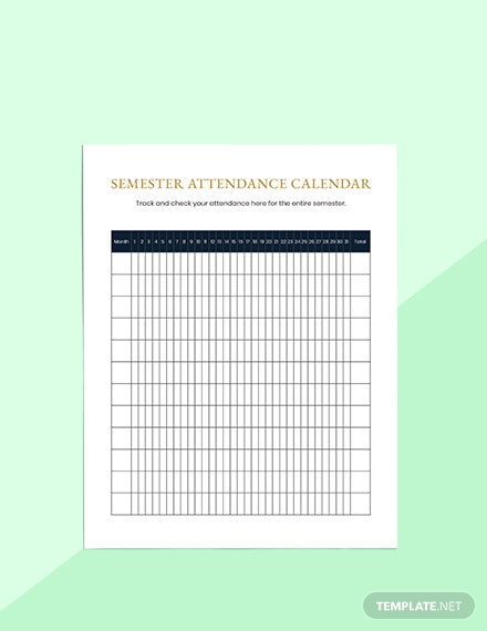 Semester Education Planner Editable