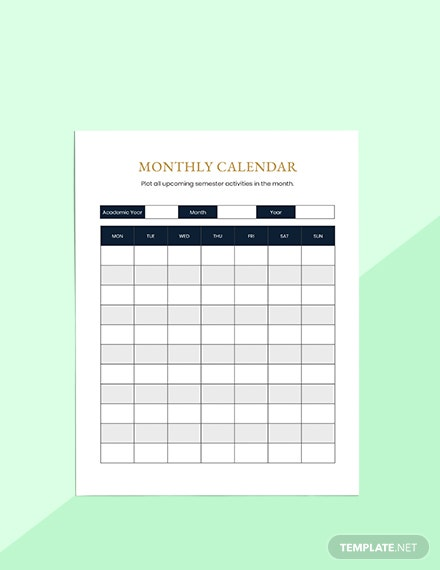Semester Education Planner Printable