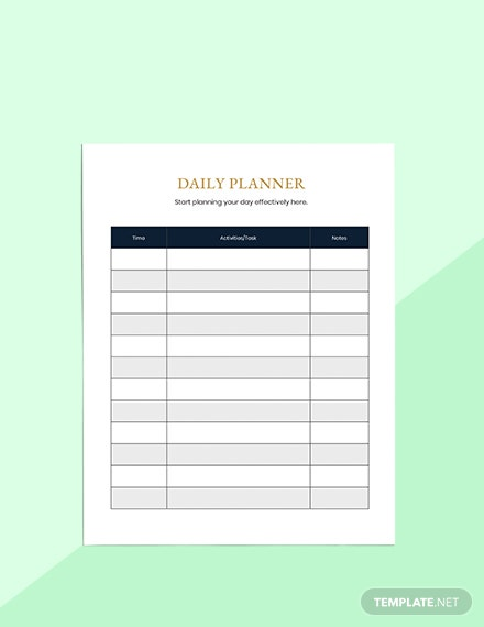 Semester Education Planner Sample