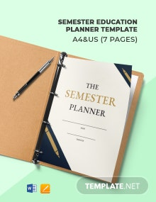 Semester Education Planner Template