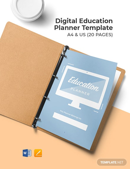 Digital Education Planner Template