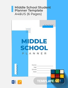 Free Middle School Student Planner Template
