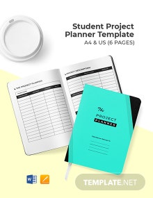 Student Project Planner Template