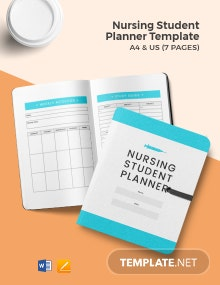 Free Nursing Student Planner Template