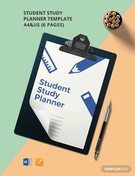 Student Study Planner Template