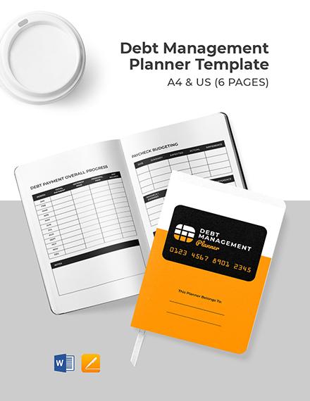 Debt Management Planner Template Format