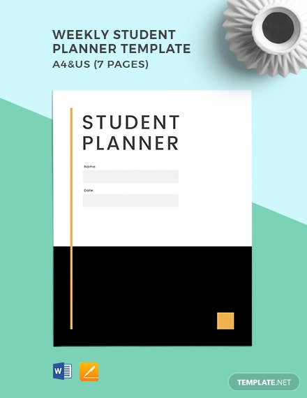 Free Weekly Student Planner Template
