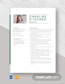 Nurse Aide Resume Template
