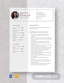 Nurse Coordinator Resume Template