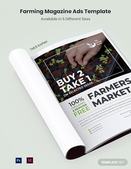 Free Farming Magazine Ads Template