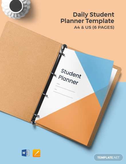 Daily Student Planner Template