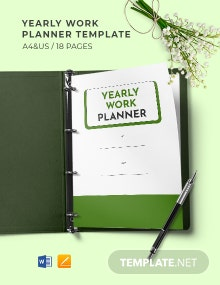 Yearly Work Planner Template