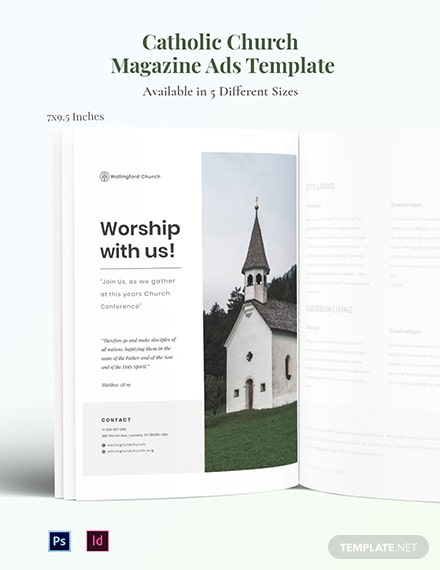 Free Catholic Church Magazine Ads Template