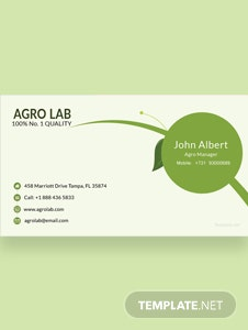 Agriculture Business Card Template