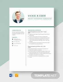 Project Management Coordinator Resume Template