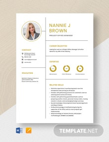 Project Office Manager Resume Template