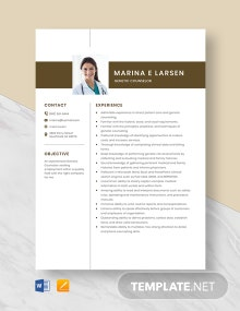 Genetic Counselor Resume Template