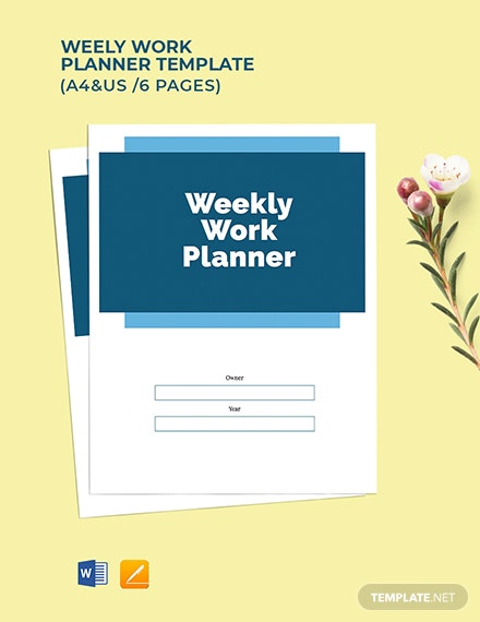Weekly Work Planner Template