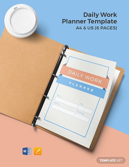 Daily Work Planner Template